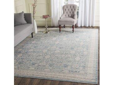 Safavieh Vintage-Teppich Bellina Blau/Beige Rechteckig 120x180 cm (BxT) Modern Vintage Design Kunstfaser