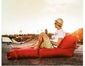 SITTING POINT Sitzsack Twist Scuba Zinnober Flachgewebe 70x80x90 cm (BxHxT)