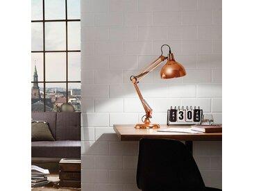 Eglo Schreibtischleuchte Borgillio Modern Kupfer Stahl 1-flammig E27 19x71x40 cm (BxHxT)