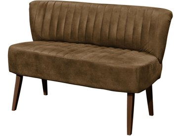 ars manufacti Sitzbank Rotnes 2-Sitzer Nougat Microfaser 143x87x69 cm