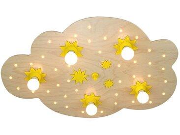 Elobra Deckenleuchte Sternenwolke 5/40 5-flammig Buche Holz Dimmbar LED 50x75x8 cm (BxHxT) E14