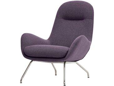 Studio Copenhagen Loungesessel Lannister Violett Webstoff 83x95x91 cm (BxHxT)