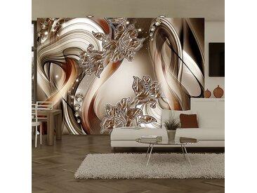 Artgeist Vliestapete Brown Symphony Premium Vlies Kupfer/Champagner Rechteckig 400x280 cm (BxH)