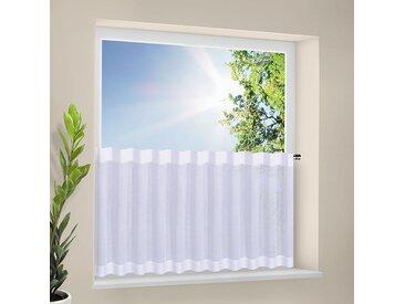 Gerster Scheibengardine Mina Weiß Modern 205x50 cm (BxH) Webstoff