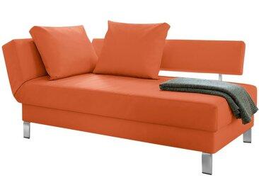 loftscape Recamiere Athmos Orange Kunstleder 186x87x92 cm mit Schlaffunktion und Bettkasten