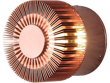 Konstsmide Wandleuchte Monza LED Modern Kupfer Aluminium 1-flammig Rund 9x9x8 cm (BxHxT)