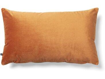 Kave Home - Lita Kissenbezug 30 x 50 cm, orange Samt