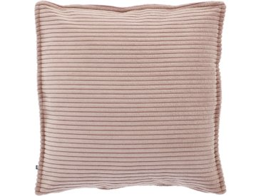 Kave Home - Wilma Kissenbezug 45 x 45 cm, rosa Kord