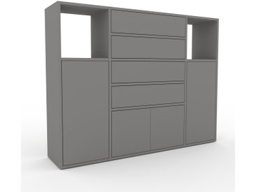Highboard Grau - Highboard: Schubladen in Grau & Türen in Grau - Hochwertige Materialien - 154 x 118 x 35 cm, Selbst designen