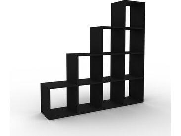 Regalsystem Schwarz - Flexibles Regalsystem: Hochwertige Qualität, einzigartiges Design - 156 x 157 x 35 cm, Komplett anpassbar