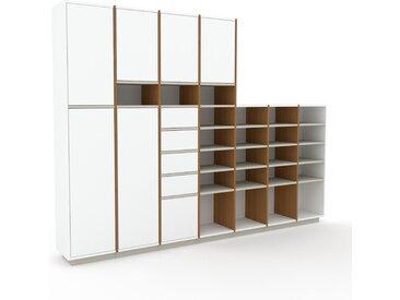 Aktenschrank Weiß - Büroschrank: Schubladen in Weiß & Türen in Weiß - Hochwertige Materialien - 272 x 200 x 35 cm, Modular