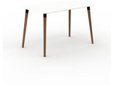 Schreibtisch Massivholz Weiß - Moderner Massivholz-Schreibtisch: Einzigartiges Design - 120 x 75 x 70 cm, konfigurierbar