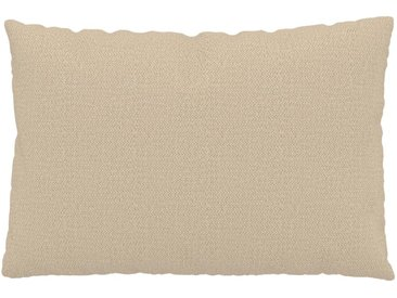 Kissen - Cremebeige, 40x60cm - Strukturgewebe, individuell konfigurierbar