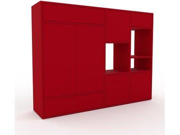 Highboard Rot - Highboard: Schubladen in Rot & Türen in Rot - Hochwertige Materialien - 154 x 118 x 35 cm, Selbst designen