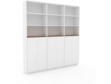 Aktenschrank Weiß - Flexibler Büroschrank: Türen in Weiß - Hochwertige Materialien - 226 x 239 x 35 cm, Modular