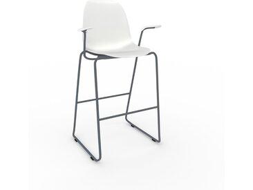 Barhocker in Weiß 49 x 112 x 62 cm einzigartiges Design, konfigurierbar