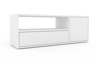 Lowboard Weiß - TV-Board: Schubladen in Weiß & Türen in Weiß - Hochwertige Materialien - 116 x 41 x 35 cm, Komplett anpassbar