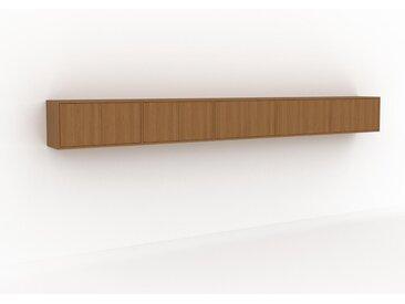 Hängeschrank Eiche - Moderner Wandschrank: Türen in Eiche - 375 x 41 x 35 cm, konfigurierbar