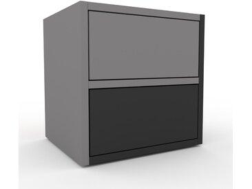 Nachtschrank Grau - Eleganter Nachtschrank: Schubladen in Graphitgrau - Hochwertige Materialien - 41 x 41 x 35 cm, konfigurierbar