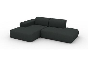 Ecksofa Anthrazit - Flexible Designer-Polsterecke, L-Form: Beste Qualität, einzigartiges Design - 245 x 72 x 168 cm, konfigurierbar