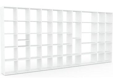 Bibliotheksregal Weiß - Individuelles Regal für Bibliothek: Einzigartiges Design - 424 x 195 x 35 cm, konfigurierbar