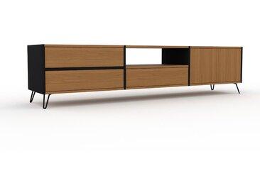 Lowboard Eiche - TV-Board: Schubladen in Eiche & Türen in Eiche - Hochwertige Materialien - 226 x 53 x 47 cm, Komplett anpassbar