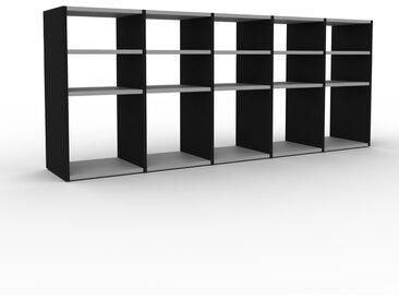 Schallplattenregal Schwarz - Modernes Regal für Schallplatten: Hochwertige Qualität, einzigartiges Design - 195 x 80 x 35 cm, Selbst designen