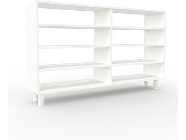 Schallplattenregal Weiß - Modernes Regal für Schallplatten: Hochwertige Qualität, einzigartiges Design - 152 x 91 x 35 cm, Selbst designen