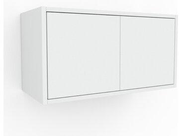Hängeschrank Weiß - Moderner Wandschrank: Türen in Weiß - 77 x 41 x 35 cm, konfigurierbar
