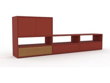 Lowboard Terrakotta - TV-Board: Schubladen in Terrakotta & Türen in Terrakotta - Hochwertige Materialien - 226 x 80 x 35 cm, Komplett anpassbar