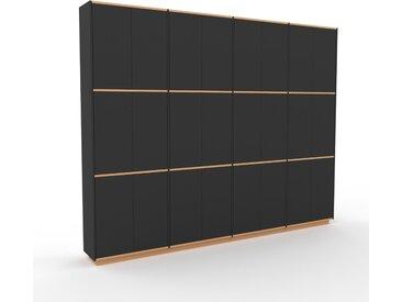 Schrankwand Graphitgrau - Moderne Wohnwand: Türen in Graphitgrau - Hochwertige Materialien - 301 x 239 x 35 cm, Konfigurator