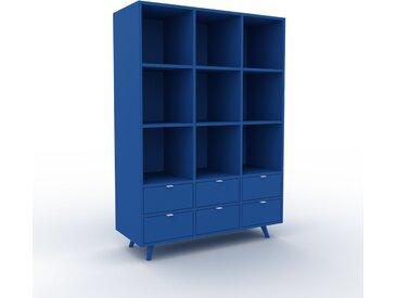 Aktenregal Marineblau - Flexibles Büroregal: Schubladen in Marineblau - Hochwertige Materialien - 118 x 168 x 47 cm, konfigurierbar