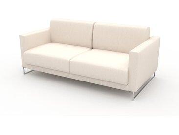 Sofa 2-Sitzer Cremeweiß Vegane Wolle - Elegantes, gemütliches 2-Sitzer Sofa: Hochwertige Qualität, einzigartiges Design - 184 x 75 x 98 cm, konfigurierbar