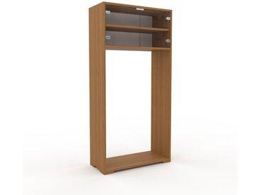 Vitrine Kristallglas klar - Moderne Glasvitrine: Türen in Kristallglas klar - Hochwertige Materialien - 77 x 158 x 35 cm, Selbst zusammenstellen
