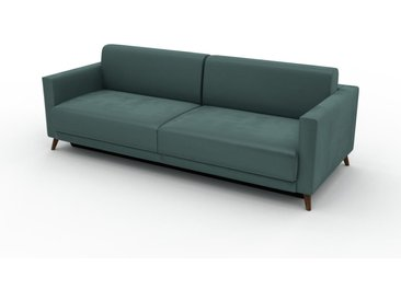 Sofa 3-Sitzer Samt Blaugrün Samt - Elegantes, gemütliches 3-Sitzer Sofa: Hochwertige Qualität, einzigartiges Design - 225 x 75 x 98 cm, konfigurierbar