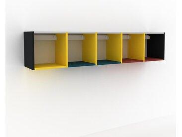 Hängeschrank Gelb - Moderner Wandschrank: Hochwertige Qualität, einzigartiges Design - 195 x 41 x 35 cm, konfigurierbar