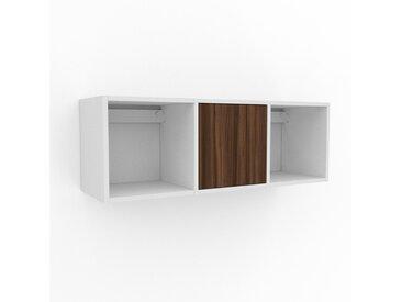 Hängeschrank Nussbaum - Moderner Wandschrank: Türen in Nussbaum - 118 x 41 x 35 cm, konfigurierbar