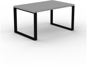 Schreibtisch Massivholz Grau - Moderner Massivholz-Schreibtisch: Einzigartiges Design - 140 x 75 x 90 cm, konfigurierbar