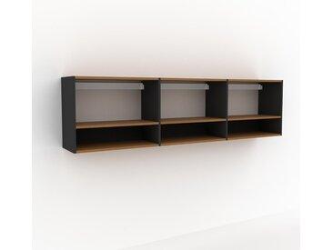Hängeschrank Graphitgrau - Moderner Wandschrank: Hochwertige Qualität, einzigartiges Design - 226 x 61 x 35 cm, konfigurierbar