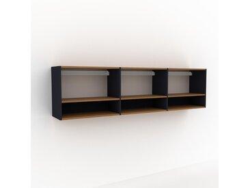 Hängeschrank Anthrazit - Moderner Wandschrank: Hochwertige Qualität, einzigartiges Design - 226 x 61 x 35 cm, konfigurierbar