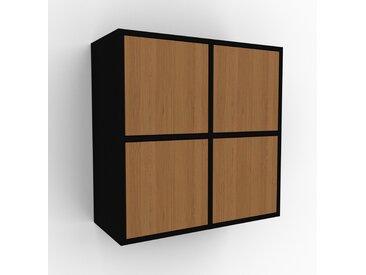 Hängeschrank Eiche - Moderner Wandschrank: Türen in Eiche - 79 x 80 x 35 cm, konfigurierbar