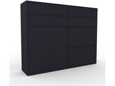 Highboard Anthrazit - Highboard: Schubladen in Anthrazit & Türen in Anthrazit - Hochwertige Materialien - 152 x 118 x 35 cm, Selbst designen