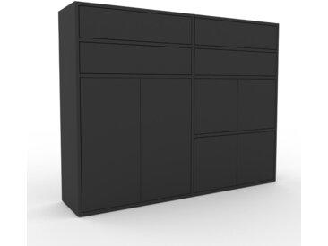 Highboard Graphitgrau - Highboard: Schubladen in Graphitgrau & Türen in Graphitgrau - Hochwertige Materialien - 152 x 118 x 35 cm, Selbst designen