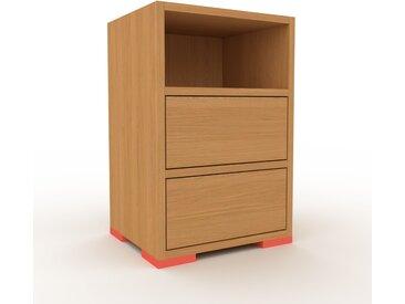 Nachtschrank Eiche - Eleganter Nachtschrank: Schubladen in Eiche - Hochwertige Materialien - 41 x 62 x 35 cm, konfigurierbar