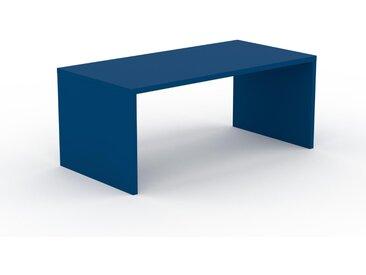 Schreibtisch Massivholz Blau - Moderner Massivholz-Schreibtisch: Einzigartiges Design - 180 x 75 x 90 cm, konfigurierbar