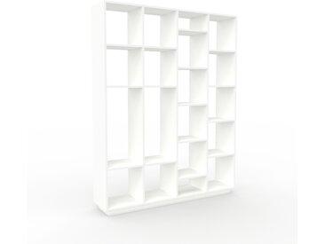 Aktenregal Weiß - Flexibles Büroregal: Hochwertige Qualität, einzigartiges Design - 156 x 200 x 35 cm, konfigurierbar