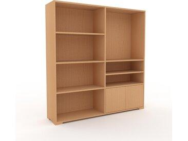 Bücherregal Buche - Modernes Regal für Bücher: Türen in Buche - 152 x 158 x 35 cm, Individuell konfigurierbar