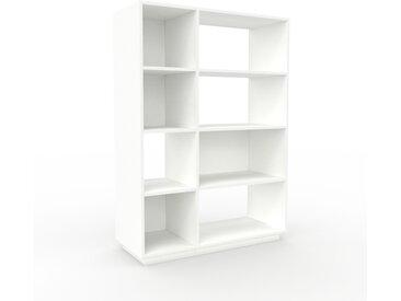 Aktenregal Weiß - Flexibles Büroregal: Hochwertige Qualität, einzigartiges Design - 116 x 162 x 47 cm, konfigurierbar