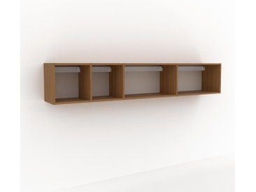 Hängeschrank Eiche, Holz - Moderner Wandschrank: Hochwertige Qualität, einzigartiges Design - 229 x 41 x 35 cm, konfigurierbar