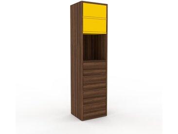 Kommode Nussbaum - Design-Lowboard: Schubladen in Nussbaum - Hochwertige Materialien - 41 x 157 x 35 cm, Selbst zusammenstellen